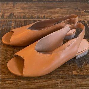 Madewell Tavi Slingback Sandals l6071 leather